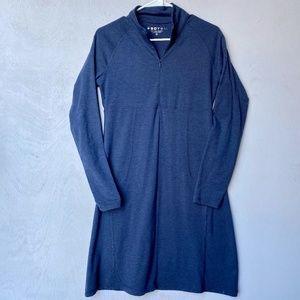 Soybu Blue Athleisure Longsleeve Dress w/ Zipper